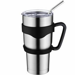Stainless Steel Vacuum Tumbler Insulated Lid Cup Handle Coff