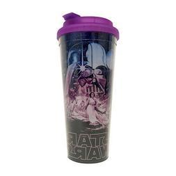 Star Wars Luke and Leia 24oz Plastic Travel Coffee Mug Darth