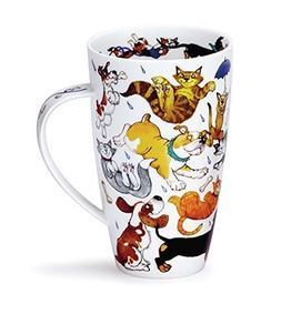 Stunning Raining Cats And Dogs Dunoon Fine Bone China Mug He
