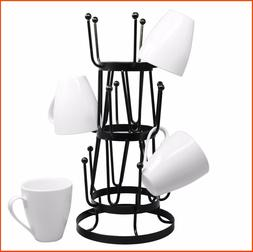 Stylish Steel Mug Tree Holder Organizer Rack Stand
