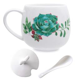 Succulent Mug Set Cute Ceramic Coffee Mugs, 13oz Succulent C