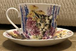 Summertime CATs FINE BONE CHINA  BREAKFAST CUP SAUCER, ROY K