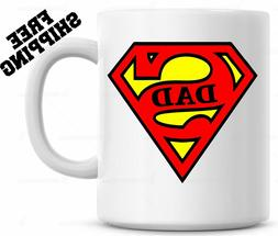 Super DAD Coffee Mug Cup Fathers Day Gift For Papa Christmas