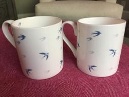 swallow white mug fine bone china new