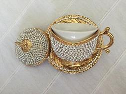 Swarovski CRYSTAL Coated Turkish Coffee Nescafe Mug Porcelai