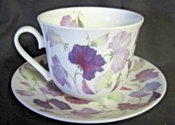 SWEET PEA LILAC, BONE CHINA  BREAKFAST CUP SAUCER, ROY KIRKH