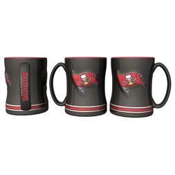 Tampa Bay Buccaneers Coffee Mug Relief Sculpted Team Color L