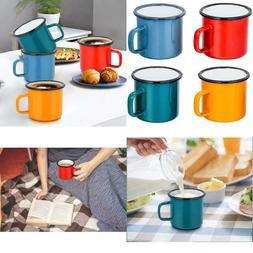 Teamfar Tea Coffee Mug Set Of 4, Enamel Drinking Mugs Cups F