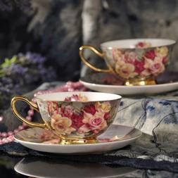 Tea Cups and Saucers Coffee Cups Porcelain Tea Cup Set - Esp