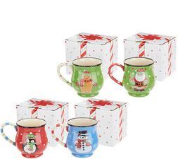 Temp-tations 4 Piece Holiday Mug Gift Set TEA CUPS COFFEE Ch