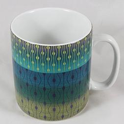 222 Fifth Theorie Peacock Fine China Large Jumbo Coffee Mug