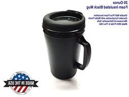 20 oz Thermoserv Foam Insulated Coffee Mug - Black