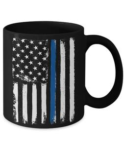 thin blue line police law enforcement coffee