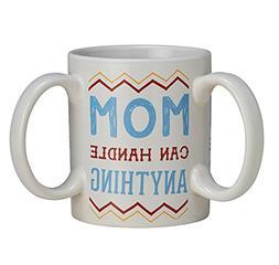 Get a Grip Three Handle Ceramic Coffee Mug, 11 oz - Mom Can
