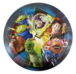Toy Story 8 Inch Round Melamine Plates - Six Plate Set