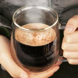 Transparent Double Layer Glass Heat Resistant Tea Coffee Mug