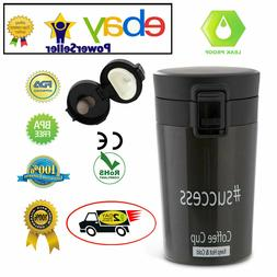 Travel Coffee Mug Cup Stainless Steel Insulated Quick-Releas