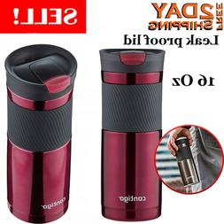 New Travel Coffee Mug Cup Stainless Steel Thermal Insulated