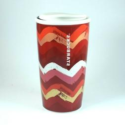 Starbucks Travel Mug Valentine's Day Ceramic with lid - 2014