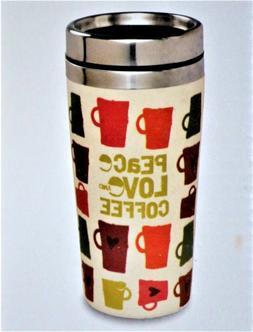 Travel Peace Love Coffee Mug Stainless Steel 14oz Tea Hot Co