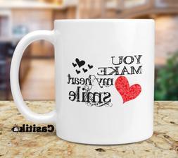 True Love Coffee Mug, You Make My Heart Smile