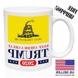 Trump 2020, Keep America Great Donald Gadsden Flag Trump Mug
