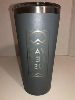 Corkcicle Tumbler 16 oz Waterman Edition Matte Gray Wanderlu