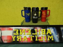 Tumbler Coffee Cup Army / Navy / Marine USMC Travel Mug Plas