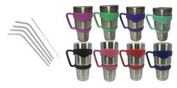 Tumbler Handle 30 oz YETI Holder Stainless Steel Straw Red P
