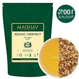 VAHDAM, Turmeric Ginger Herbal Tea Tisane Set of 2 India's T