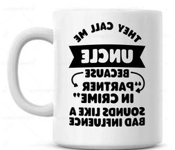 Uncle Partner in Crime Coffee Mug , birth announcement gift,