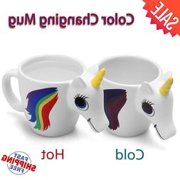 Unicorn Ceramic Color Changing Mug Original 3D Heat Sensitiv