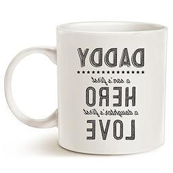 MAUAG Unique Father's Day Ceramic Coffee Mug - Daddy: A Son'