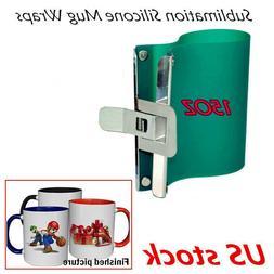 3D Sublimation 15OZ Mug Clamps Silicone Rubber 15OZ Mugs Wrap Cup Printing 3PCS