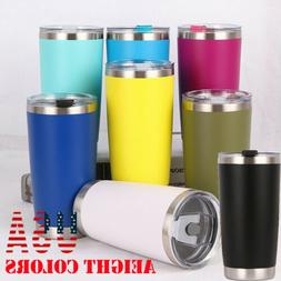 US New 20oz Stainless Steel Vacuum Tumbler Insulated Travel