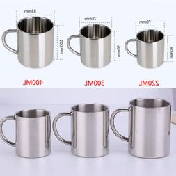 US Stainless Steel Coffee Tea Mug Cup Camping/Travel Outdoor