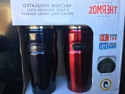 Thermos 2-Pack Vacuum Insulated Stainless Steel 16 oz Travel