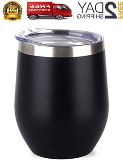 Vacuum Insulated Tumbler Yeti Rambler Cup Non-Spill Lid Trav