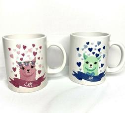 Llama Mr Mrs Couple Ceramic Coffee Beverage Mug Cup His And