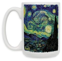 "Art Plates ""Van Gogh Starry Night"" Ceramic Coffee Mug, 15 oz"
