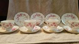 "Vintage ""Wispy"" ROSLYN Fine bone China 14 Piece TEA SET. Mad"