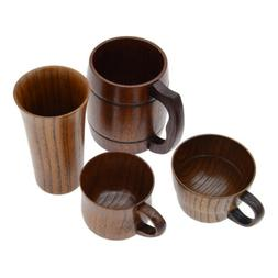 Vintage Wooden Natural Wood Cup Milk Tea Juice Primitive Cof