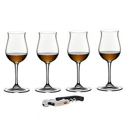 Riedel Vinum Leaded Crystal 4 Piece Cognac/Hennessy Glass Se