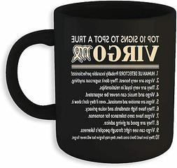 Virgo Gifts Virgo Zodiac Mug coffee sign to spot a true Funn