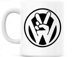 VW, Volkswagen Peace Sign Beetle Bug Coffee Mug multiple col