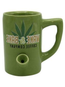 Wake and Bake All in One Ceramic Mug Coffee Cup Pipe