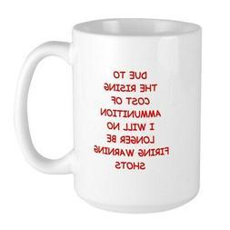 CafePress WARNING Mugs Coffee Mug, Large 15 oz. White Coffee