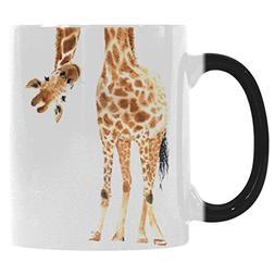 InterestPrint Watercolor Giraffe Animal Print Morphing Mug H