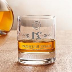 AMAVEL Whiskey Glass - 21st Birthday - Elegant Tumbler - 21