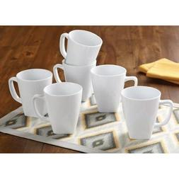 Better Homes and Gardens Set of 6 White Square 14 oz Coffee